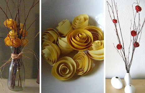 Как сделать цветы из бумаги в вазу